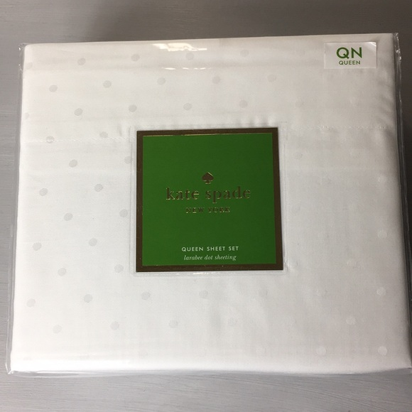 Kate spade other white polka dot queen sheet set new poshmark kate spade white polka dot queen sheet set new thecheapjerseys Images